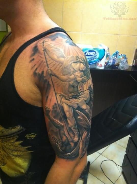 20 Full Sleeve Tattoos Angel Devil Verses Ideas And Designs