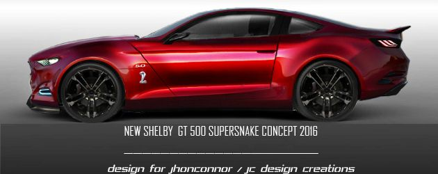 2016 Shelby GT500 Supersnake Concept . . .  now that is NICE!!!