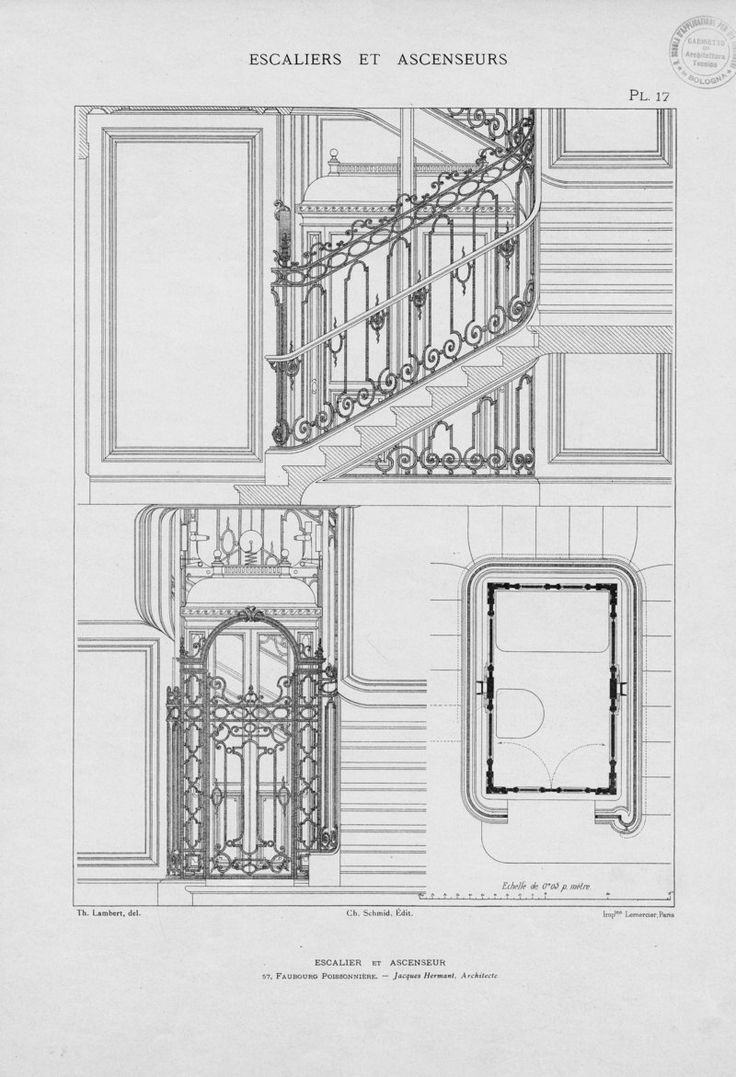 Escaliers et ascenseurs : ensembles et details d'ex...   Lambert, Theodore
