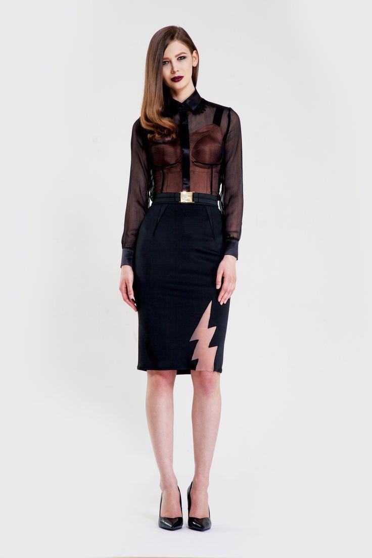 Lucid shirt/ Sculpt leotard/ Flash skirt/ Tinsel belt www.murmurstore.com