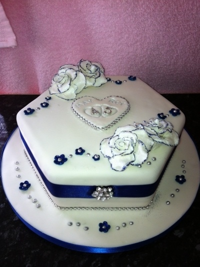 45th Anniversary Cake By Muffy6969 On Cakecentral Com