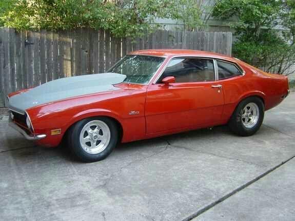 Ford maverick drag car. Love the cowl hood. One day I will own a maverick