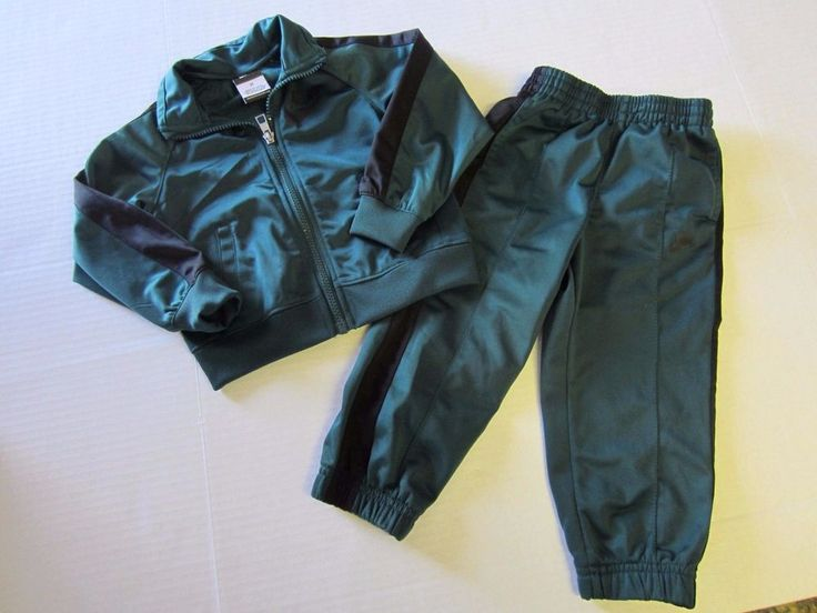Nike Track Suit 2T Green Jacket Pants Athletic Outfit Boy #Nike