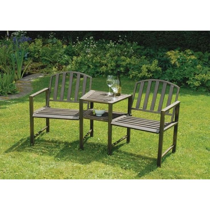 doverdale duo bench table love seatgarden