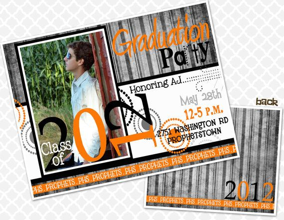 2013 Graduation Party Invite Graduation Open House by Inksnsuch, $1.38