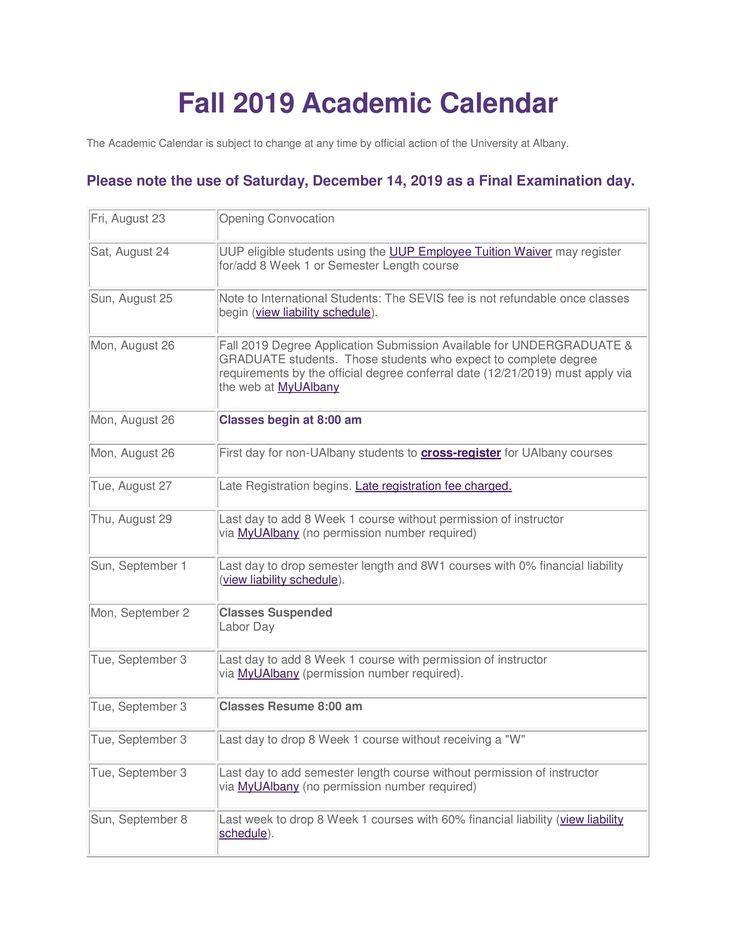 Ualbany Fall 2022 Calendar.2022 Calendar Ualbany Calendar Fall 2021
