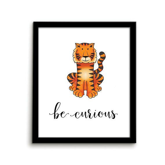 Tiger Print Animal Nursery Art Print Be by ThirteenFiveCreative
