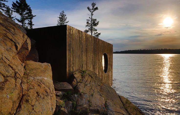 Organisk bastu av Partisans –http://www.tidningentra.se/notiser/3d-skanner-gav-boljande-bastu #arkitektur i #trä