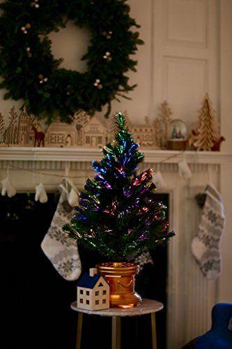 3f5324fcef2e3 Celebrations-36-Inch-LED-Fiber-Optic-Prelit-Artificial-Christmas-Tree -in-Gold-Base-0-1