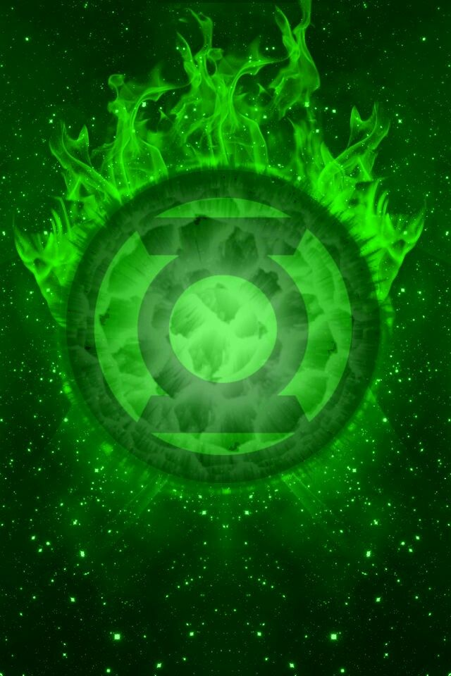 Green Lantern fireball background by_kalel7