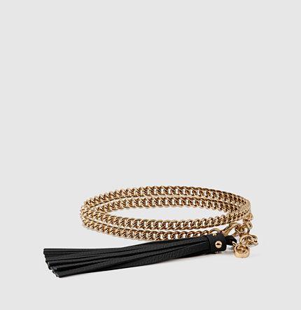 Gucci - cintura con catena e fibbia con nappine 388992IAA1G8061
