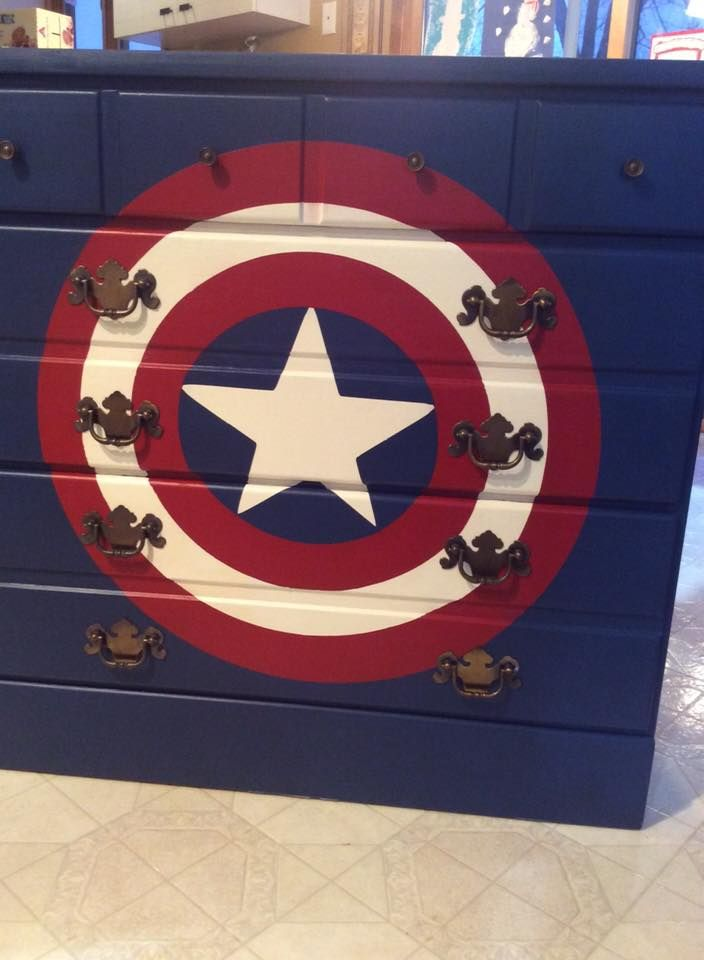Superhero Dresser, Captain America Dresser, Boys Bedroom FarmhouseHeart.etsy.com