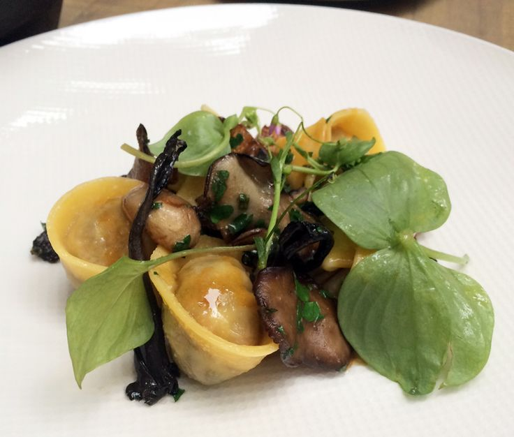 Incredible duck tortellini with wild mushrooms at L'Abattoir, the second stop on Dean's #epic birthday crawl. http://bit.ly/1SpE8bs