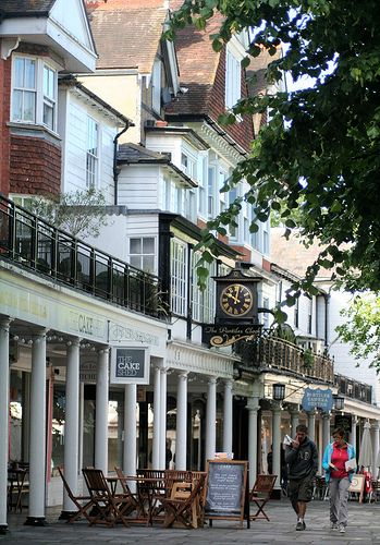 ENGLAND..... Tunbridge Wells.  Pantiles - Royal Tunbridge Wells (often shortened to Tunbridge Wells) is a large town and Borough in west Kent.