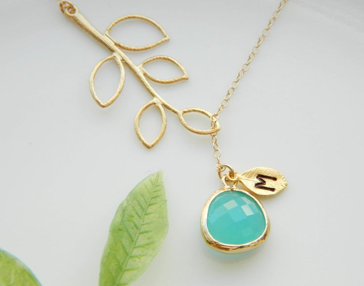 Personalized stone with initial pendant