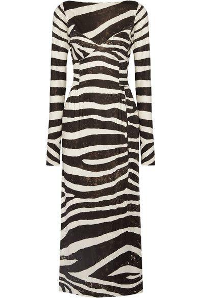 MARC JACOBS Zebra-print stretch-jersey dress. #marcjacobs #cloth #dresses