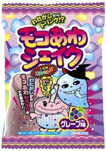 "Popin Cotton Candy ""Moco Awa Shake"" Grape Flavor Meiji"