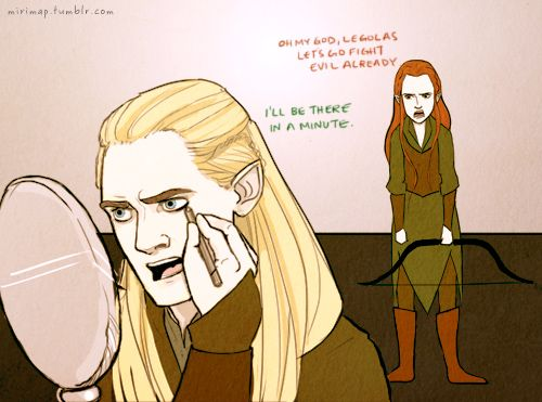 Tauriel+and+Legolas+drawing | Prompted by a convo with ...