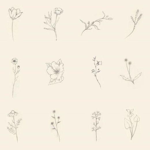 magnífico diseños de tatuaje de la flor