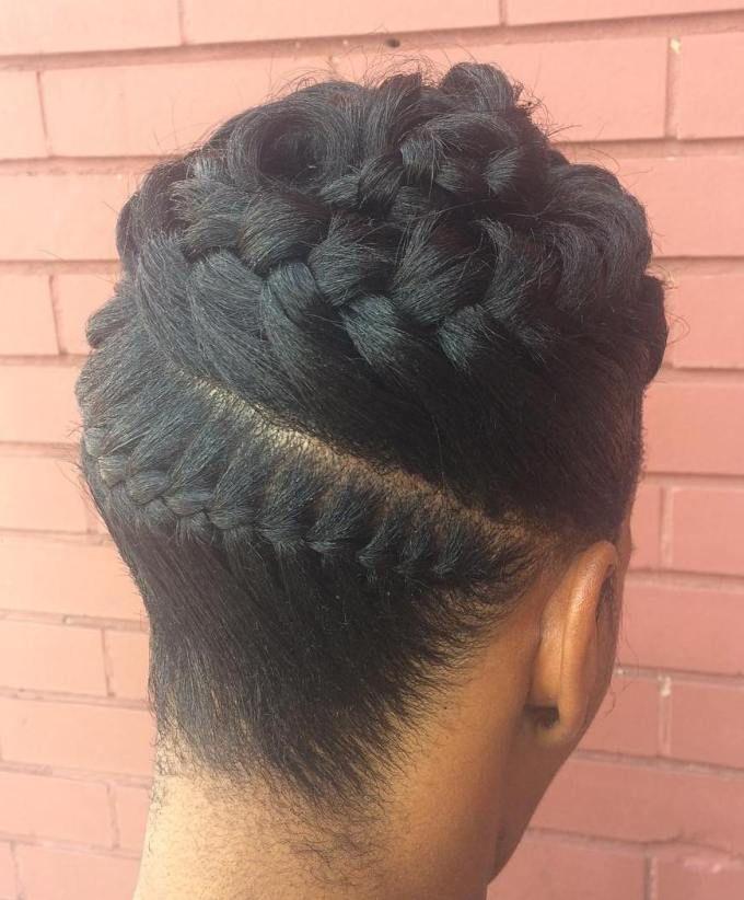 Black Goddess Braids Updo