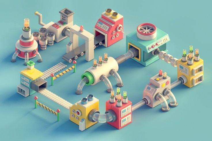 https://www.behance.net/gallery/28668383/Mini-Machines