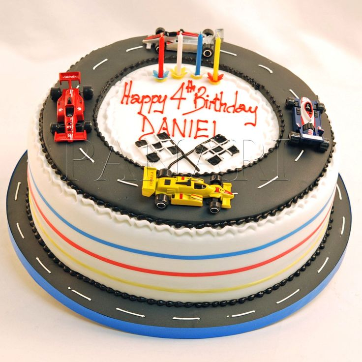F Racing Car Cake