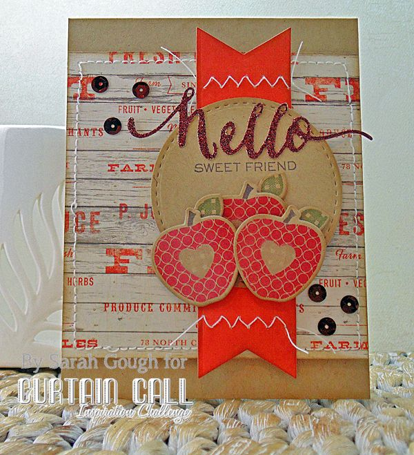 THinkING STAMPS: Curtain Call Inspiration Challenge - Lovely Leaves - By Sarah