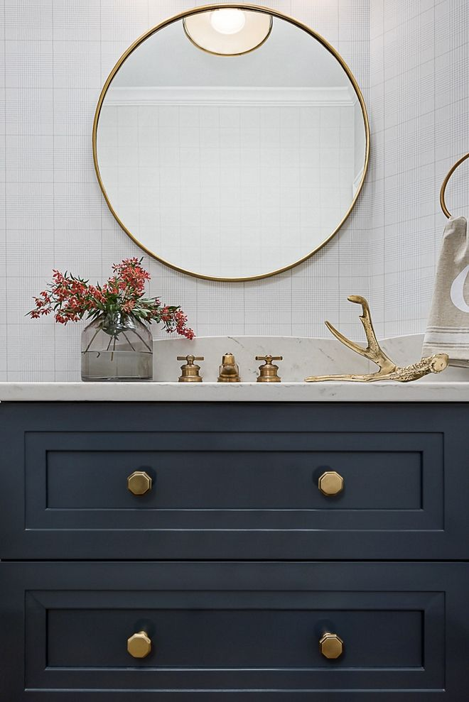 Brass Round Mirror Bathroom Round Brass Mirror Sleek Modern And