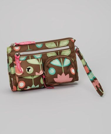 Take a look at this Brown Floral Wristlet by Lily Bloom on #zulily today!