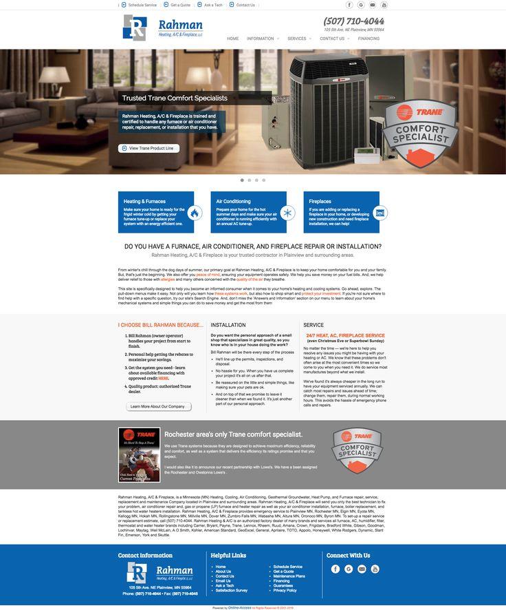 Rahman Heating, A/C & Fireplace, LLC. Plainview, MN