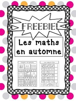 A pair of Print-and-Go math activities for Pre-K, Kindergarten and Grade 1 French students with an autumnal theme This is a preview of French Fall Math Pack a set of 10 math worksheets that can simply be printed and used without any further prep. These worksheets can be used as extra practice, stand alone activities, in math centres, or however else you choose!This pack includes 2 worksheets: Counting 1-10 objects and Cut and Paste to complete the pattern…