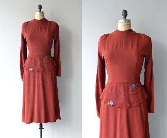 Cartwright door Martha Gale kleden • vintage jaren 1930 jurk • rayon crêpe '30 kleden