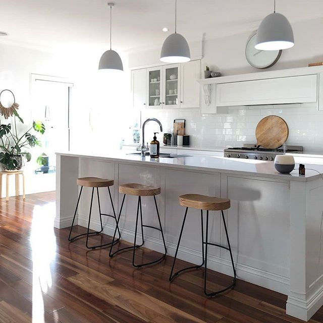 Those Fresh Kitchen Feels Our Anarchy Bar Stools Looking In The Home Of Katrinas Instagram Kitchen Room Design Masculine Living Rooms Home Decor Kitchen