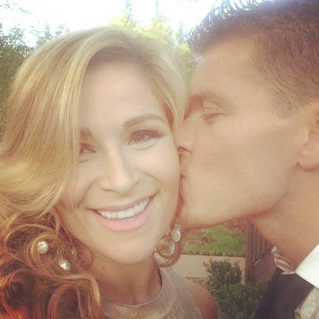 Nattie & TJ from Brie Bella and Daniel Bryan's Wedding  Diva Nattie gets a kiss from husband TJ.