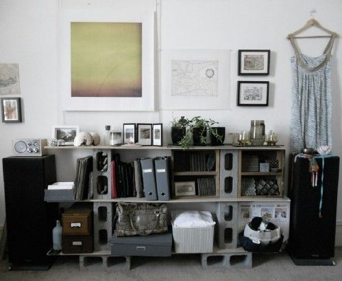 Shelving Unit - 17 Creative Ways to Use Concrete Blocks in Your Home