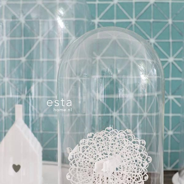 Esta Home Marrakech geometrische vormen aqua groen 148350