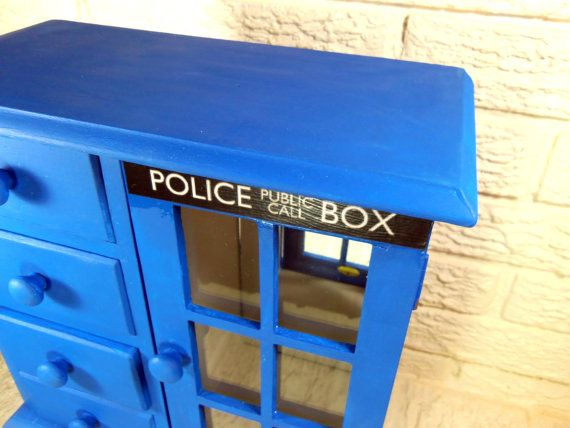 Doctor Who TARDIS Large Trinket Jewelry Box   Sonic Screwdriver   Whovian    Dr Who On