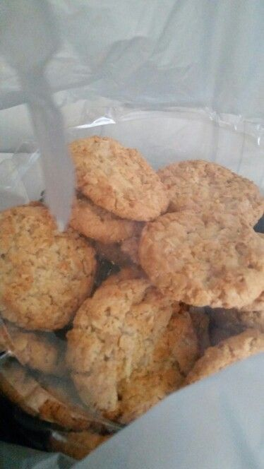 Bought anzac biscuit