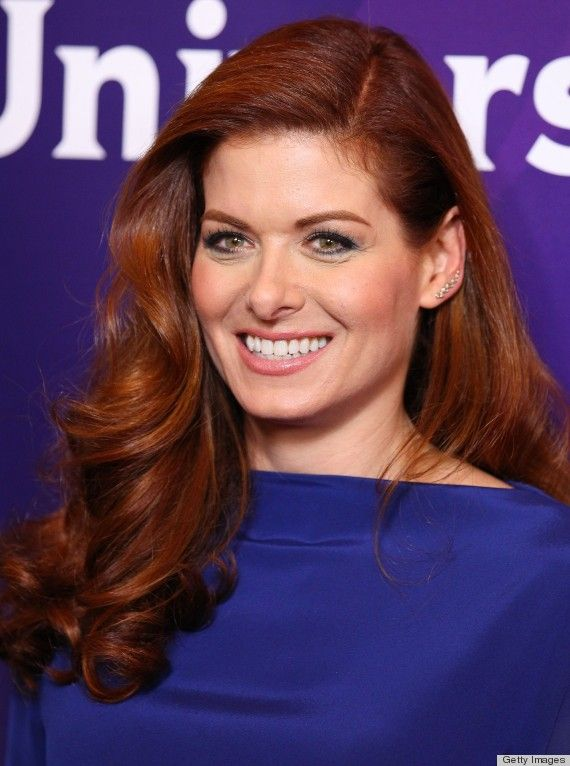 We love Debra Messing's red barrel curls