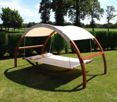 This hammock would be amazing!  Wonder if the roof retracts for star gazing?
