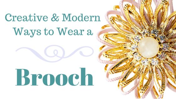 The Vintage Jewelry Blog: Creative, Unique, and Totally Modern Ways To Wear A Brooch
