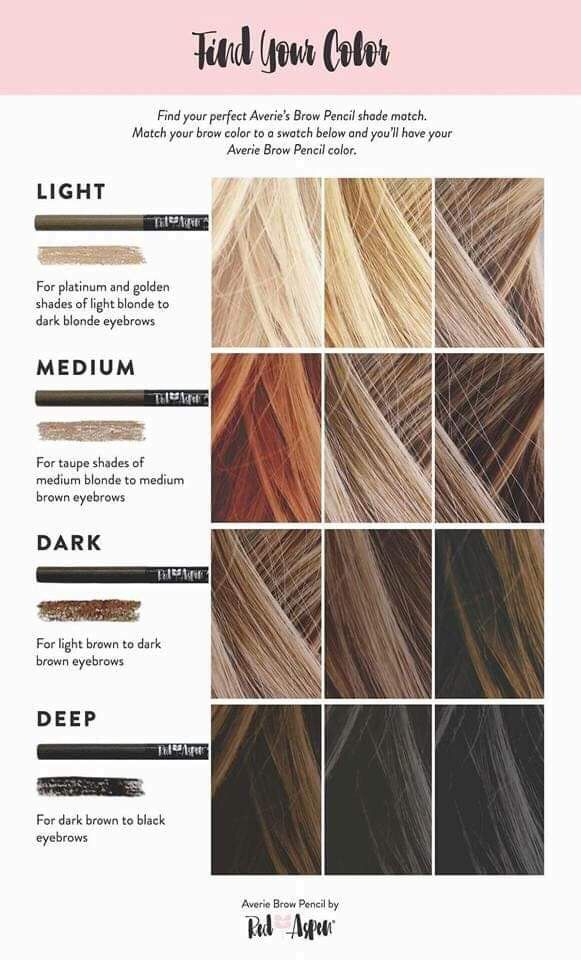 Pin By Amazing Oregon On Hair Stylist How To Color Eyebrows Hair Color Swatches Brow Color