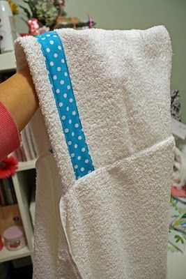 Cute and easy tutorial for hooded bath towels