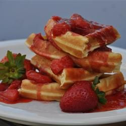 Supreme Strawberry Topping - Awesome restaurant style strawberry topping. Serve cold over cheesecake or ice cream.