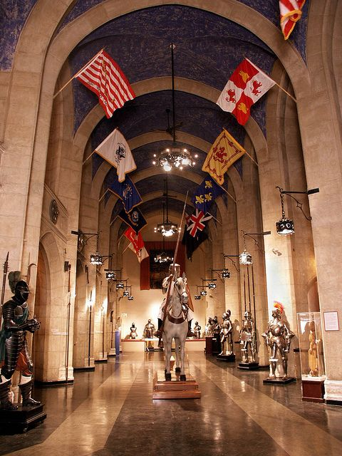 Museum Great Hall in Higgins Armory, Worcester #massachusetts #travel