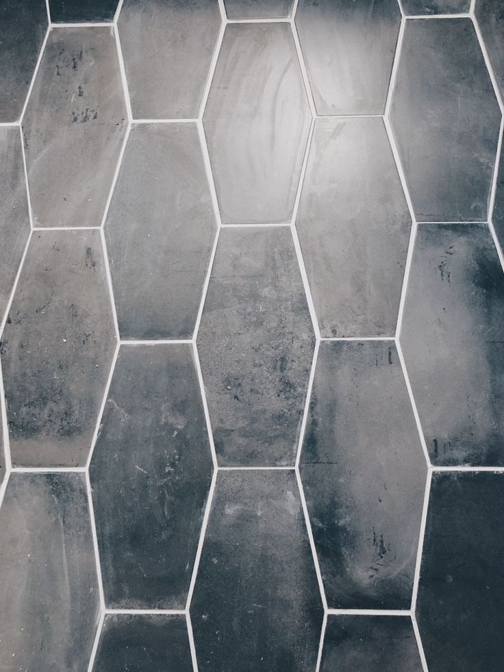 Week 4 Gray Geometric Tile And Mid Century Bathroom Mid Century