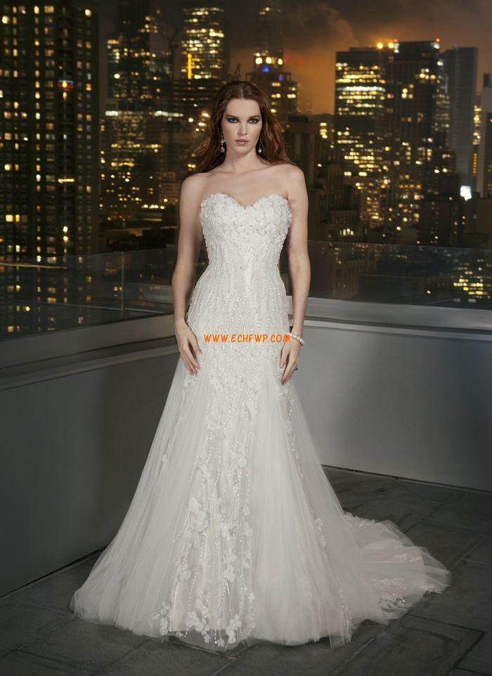 Elégant & Luxueux Zip Naturel Robes de mariée de luxe