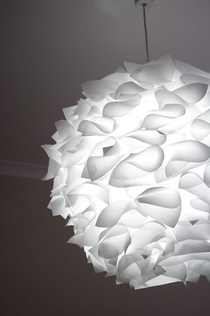 My Pondokkie: PAPER LAMPSHADE  I'll be making this! Easy, economical, BEAUTIFUL!