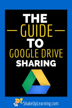 The Guide to Google Drive Sharing | Shake Up Learining | #gafe #google #googledrive #edtech