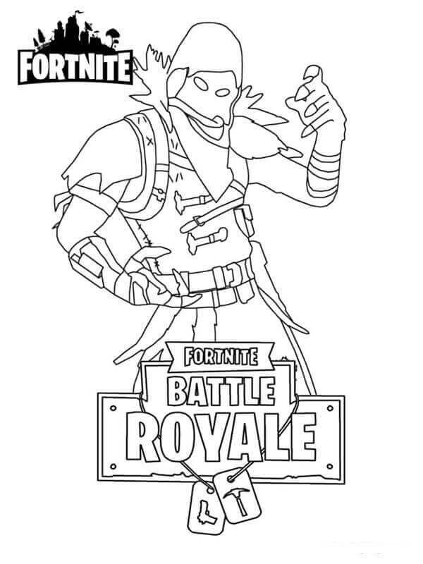 Coloring Pages Fortnite Raven